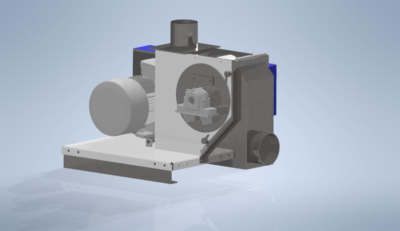 Broyeur industriel à marteaux avec pneumatique HM600P
