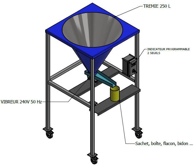 Ensacheuse semi automatique Baggin5 de 100g à 5kg